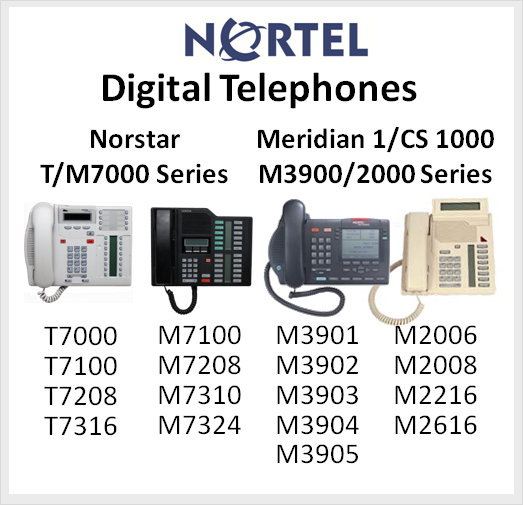 Nortel Digital Telephones