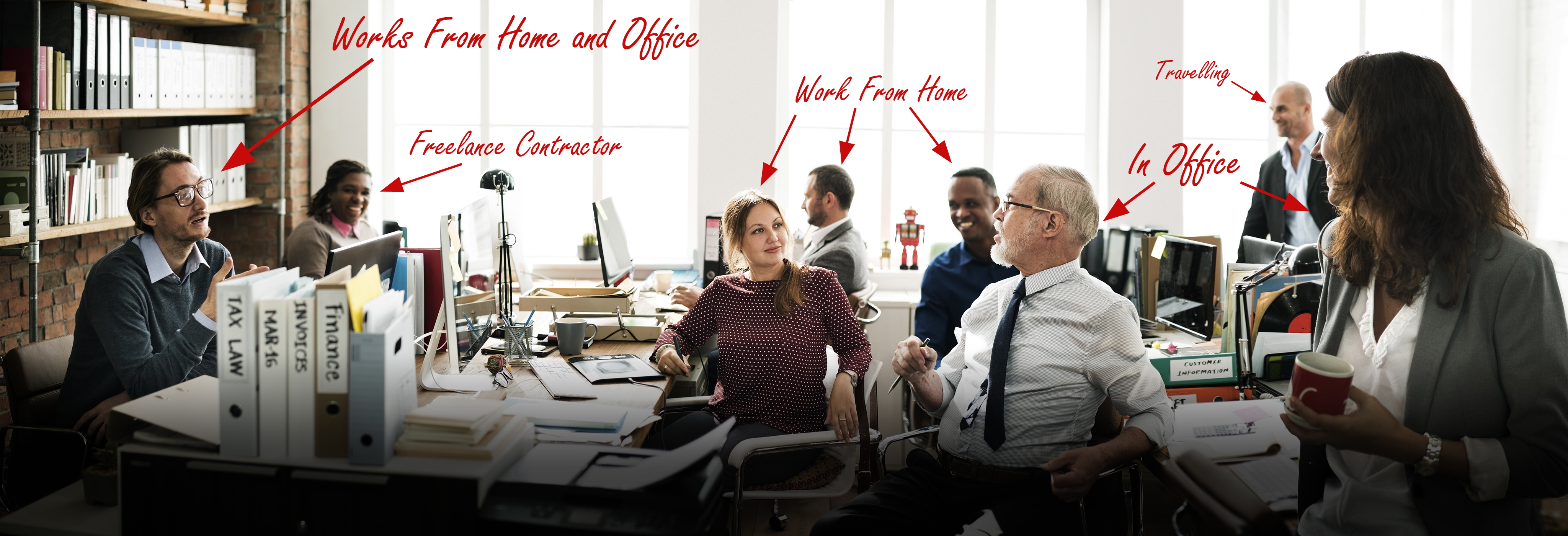 office workers - we work differntly image