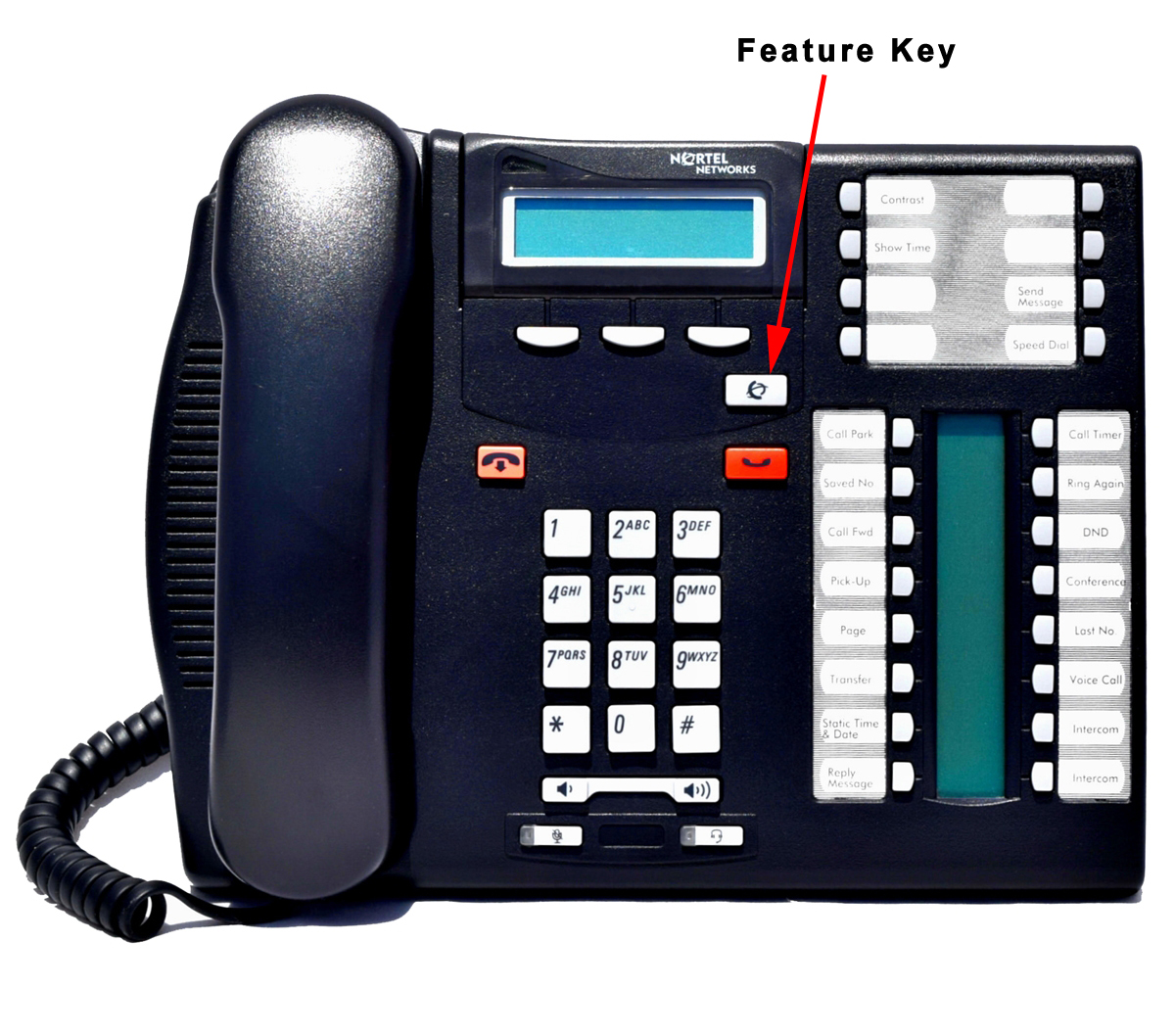 Nortel Digital Phone with Feature key
