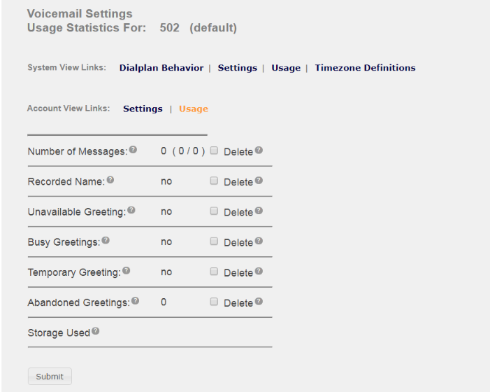 Voicemail settings documentation usage m4hsunfo