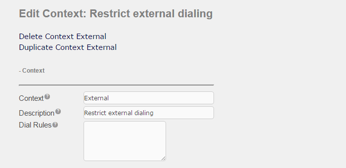 Restrict dial access using Custom Contexts | Documentation